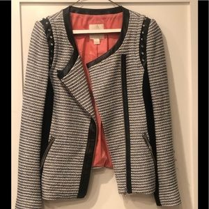 Tweed Maggin Jacket with Leather & Stud Detailing